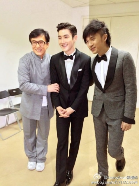 [131222]Siwon with Jackie Chan and LeoKu  || 1 Pic